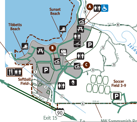 Lake Sammamish Park map