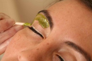 Eyebrow waxing