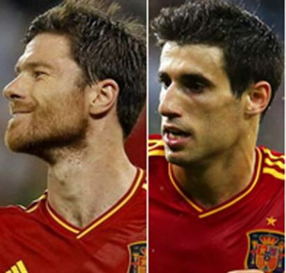 Xabi Alonso and Javi Martinez, Basque players in the Spanish soccer national team
