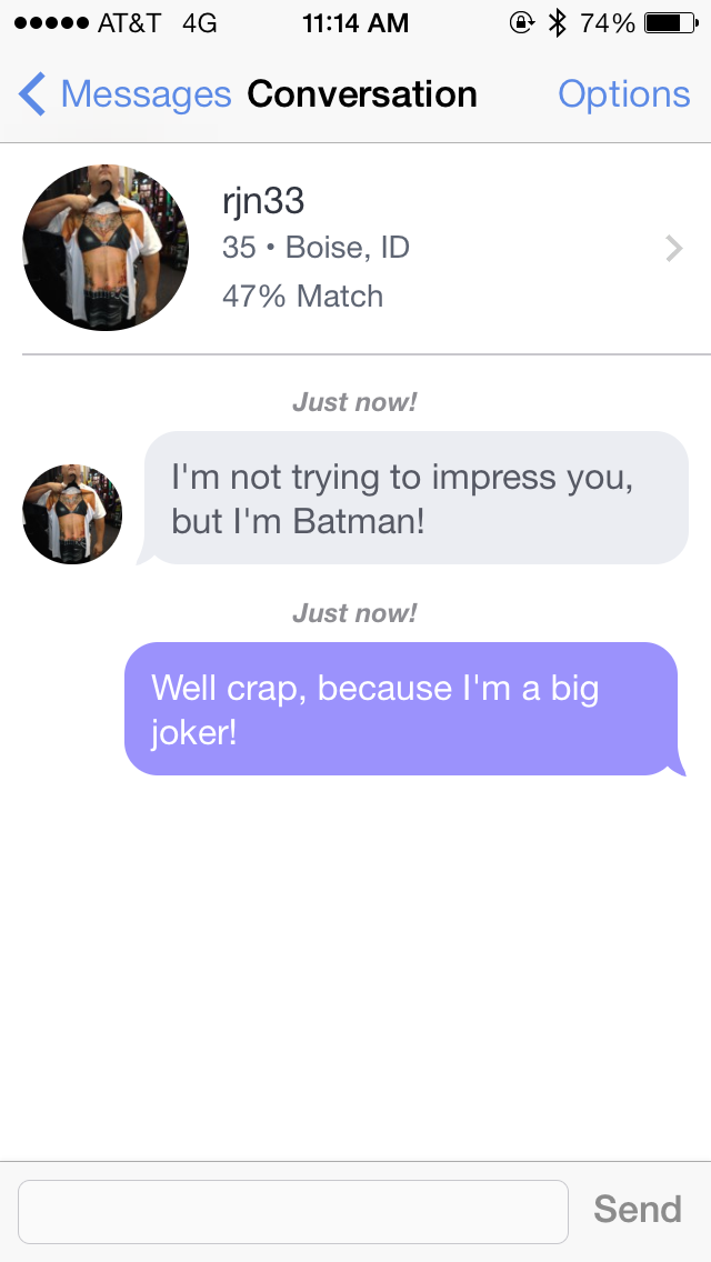 Joys of online dating