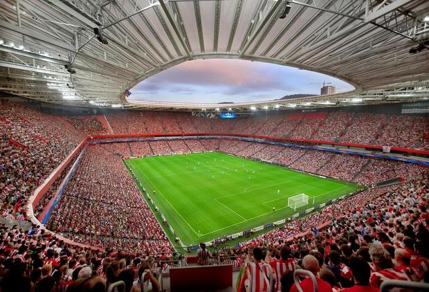 Athletic Bilbao drew an average of 43,454 fans to its matches this season, fourth most in La Liga behind Barcelona (77,632), Real Madrid (73,081) and Atlético Madrid (46,603). MARIELI OVIEDO — Photo courtesy of Athletic Bilbao