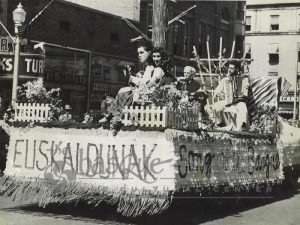 Float in the 1949 parade (Courtesy of the Basque Museum)