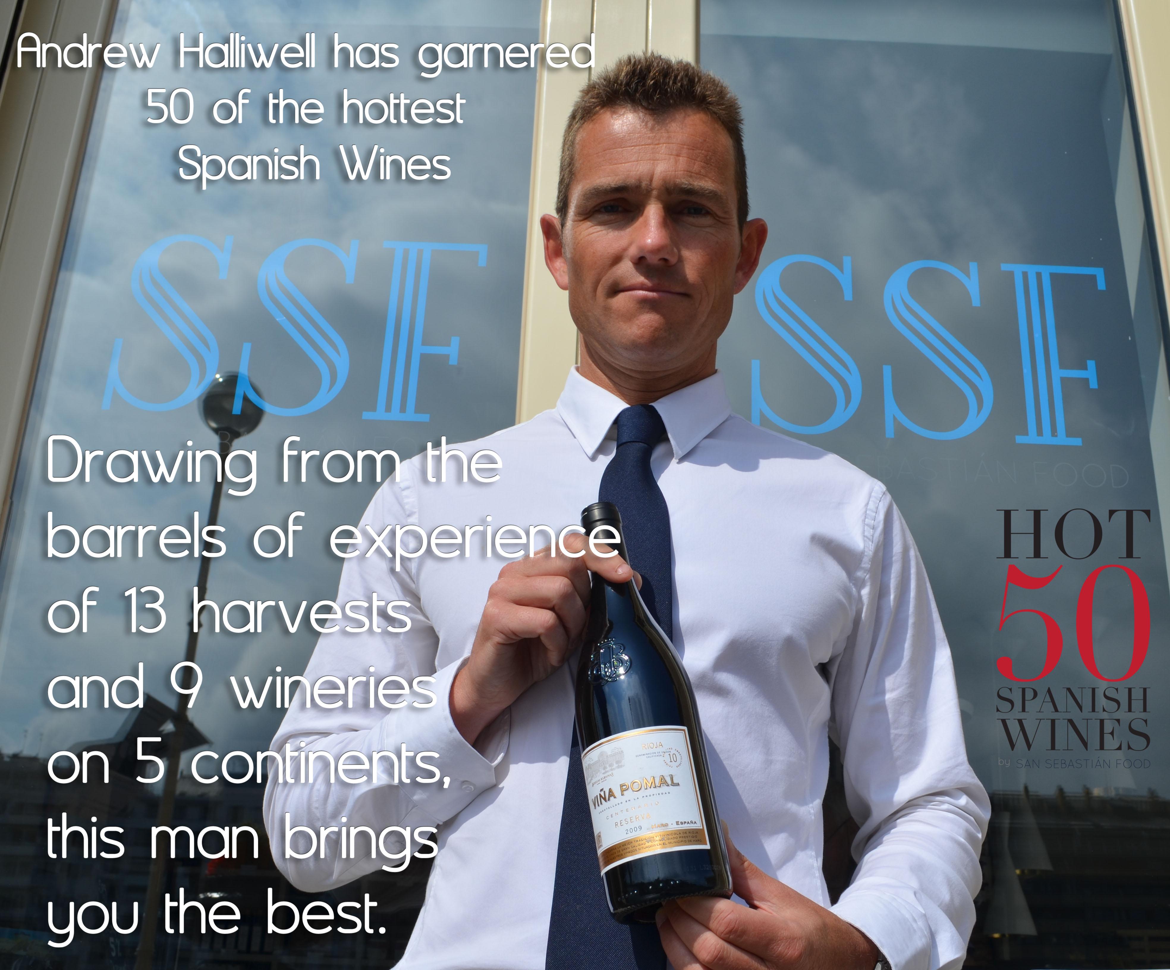 Winemaker Andrew Halliwell of San Sebastián Food